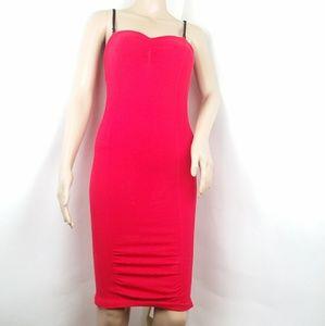 Free People Swiss Dot Seamless Bodycon Slip Dress